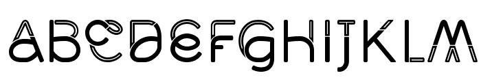 Middlecase Regular-Inline Font LOWERCASE