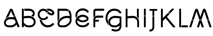 Middlecase Regular-Solid Font UPPERCASE