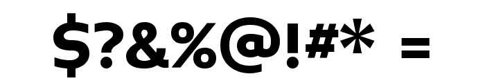 Midiet Sans Bold Font OTHER CHARS