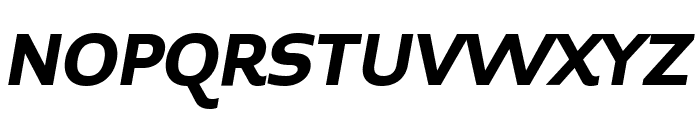 Midiet Sans Italic Bold Font UPPERCASE