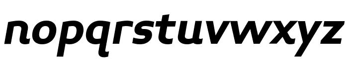 Midiet Sans Italic Bold Font LOWERCASE