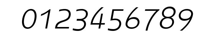 Midiet Sans Italic Light Font OTHER CHARS