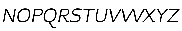 Midiet Sans Italic Light Font UPPERCASE