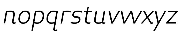 Midiet Sans Italic Light Font LOWERCASE