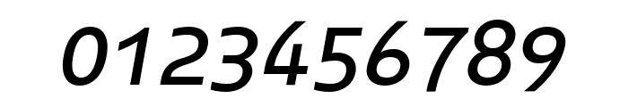 Midiet Sans Italic Medium Font OTHER CHARS