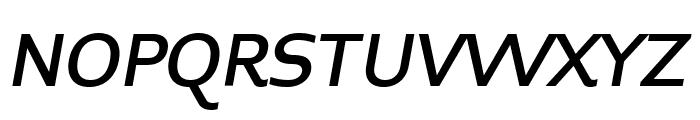 Midiet Sans Italic Medium Font UPPERCASE