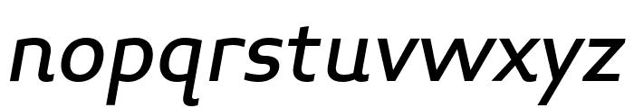 Midiet Sans Italic Medium Font LOWERCASE