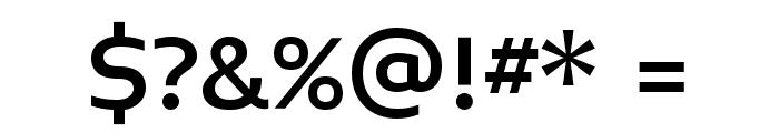 Midiet Sans Medium Font OTHER CHARS