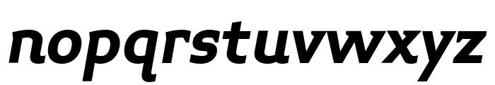Midiet Serif Italic Bold Font LOWERCASE