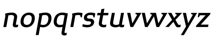 Midiet Serif Italic Medium Font LOWERCASE