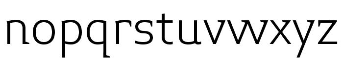 Midiet Serif Light Font LOWERCASE
