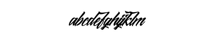 Midnight Street Font LOWERCASE