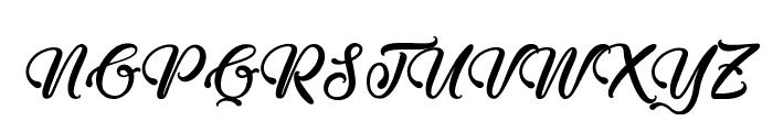 Midnight Valentine Font UPPERCASE