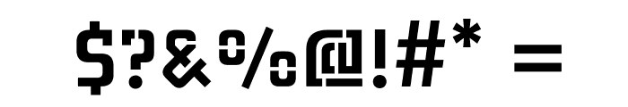 MidnightKernboyStencil Font OTHER CHARS