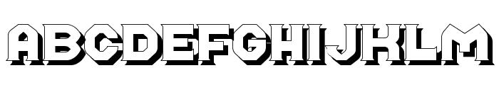 Midroba Schatten Font UPPERCASE