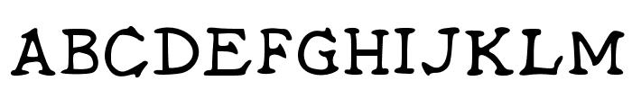 Midtown Roman Schoolhouse Medium Font UPPERCASE