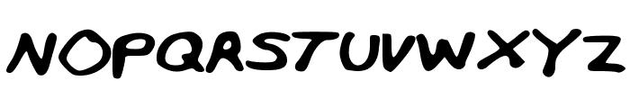 MiffinsHandwriting Font UPPERCASE