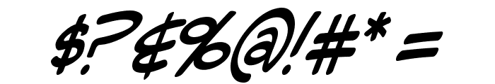 Mighty Zeo Italic Font OTHER CHARS