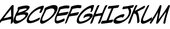 Mighty Zeo Italic Font UPPERCASE