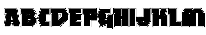 MightyContour-Black Font UPPERCASE