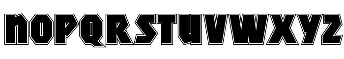MightyContour-Black Font LOWERCASE