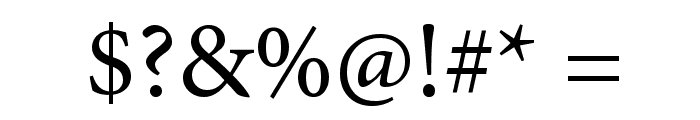 Mignon-Regular Font OTHER CHARS