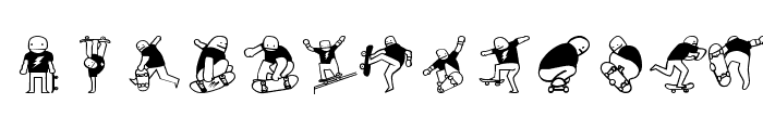 Mike vallely Font LOWERCASE