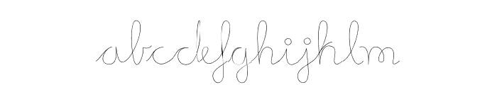 Mikelis-Light Font LOWERCASE