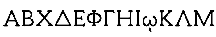 Milan Greek Font UPPERCASE