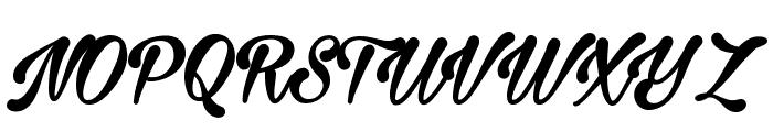 Milasian Circa Bold PERSONAL Font UPPERCASE
