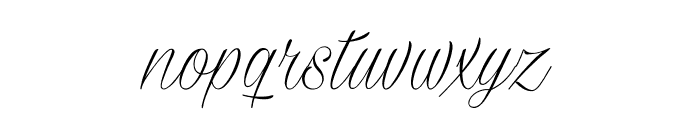 Milasian Thin PERSONAL Font LOWERCASE