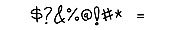 MildHandJive Font OTHER CHARS