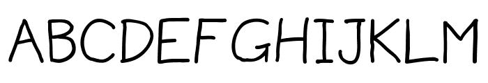 MildHandJive Font UPPERCASE