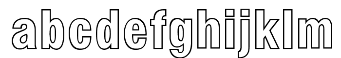 Milford Hollow Font LOWERCASE