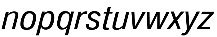 Milford Italic Font LOWERCASE
