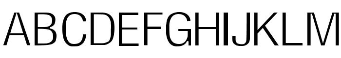 Milford Light Font UPPERCASE