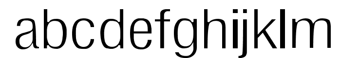 Milford Light Font LOWERCASE