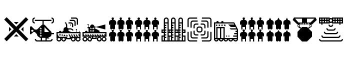 Militaricons Regular Font UPPERCASE