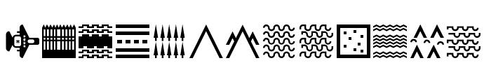 Militaricons Regular Font LOWERCASE
