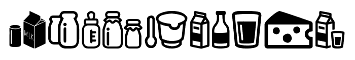 Milk Font OTHER CHARS