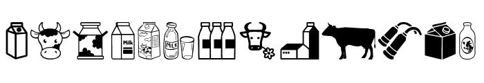 Milk Font UPPERCASE