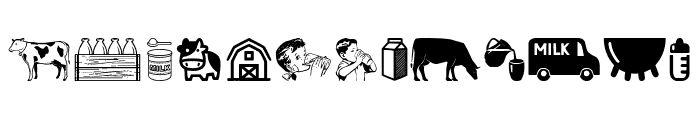 Milk Font LOWERCASE