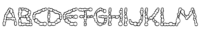 Milkdrops cold Font UPPERCASE
