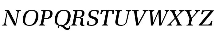MillOpti-MediumItalic Font UPPERCASE