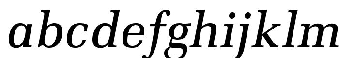 MillOpti-MediumItalic Font LOWERCASE