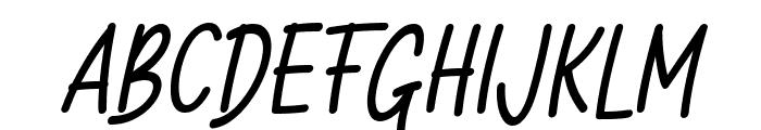 Milloyste Italic Font UPPERCASE