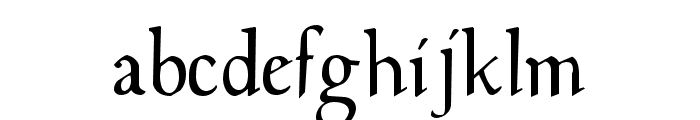 Milwich Font LOWERCASE