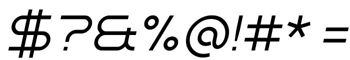 Minalis_Demo Light Italic Font OTHER CHARS