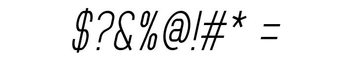 MindBlue Italic Font OTHER CHARS