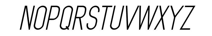 MindBlue Italic Font UPPERCASE